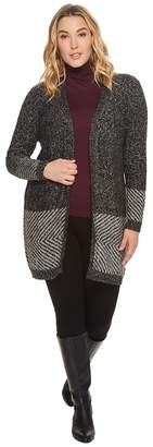 Bobeau B Collection by Plus Size Auggie Duster Cardigan Women's Sweater