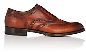 Antonio Maurizi MEN'S BURNISHED LEATHER WINGTIP BLUCHERS - BROWN SIZE 10 M