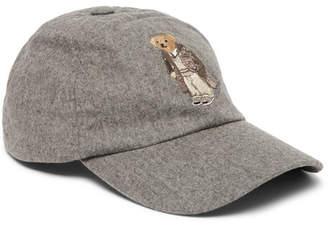 Ralph Lauren Purple Label Embroidered Wool-Blend Felt Baseball Cap - Gray