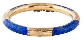 Lapis 14K Lazuli Hinged Bangle