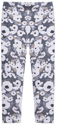 Imoga Floral-Print Stretch Leggings, Size 8-14