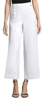 St. John Cropped Luxe Cotton Pants