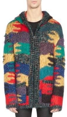Saint Laurent Wool Blanket Coat