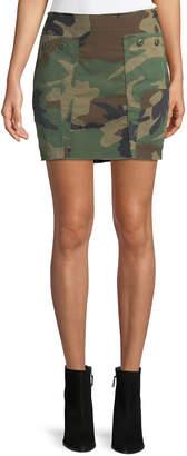 KENDALL + KYLIE Camo-Print Repurposed Mini Skirt