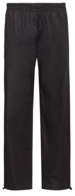 Straight-leg pants with elastic waistband and hems