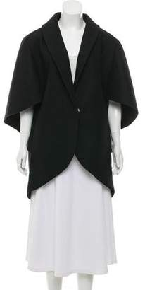 Milly Wool-Blend Cape Jacket