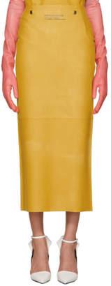 Calvin Klein Yellow Rubber Skirt
