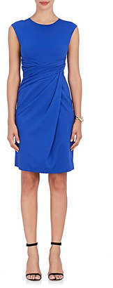 Giorgio Armani Women's Draped Stretch-Jersey Sheath Dress $1,195 thestylecure.com