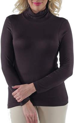24/7 Comfort Apparel Turtleneck Womens Tunic Top-Plus