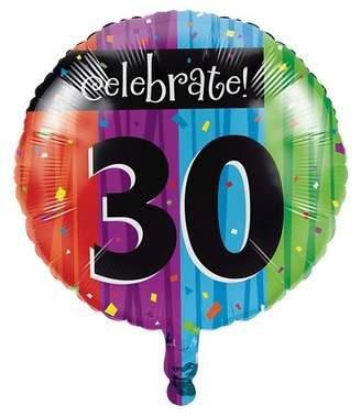 Creative Converting Milestone Celebrations 30th Birthday Mylar Balloon