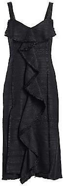 Proenza Schouler Women's Tweed Ruffle Midi Dress