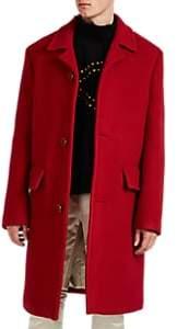 Raf Simons Men's Virgin-Wool-Mohair Felt Coat - Red