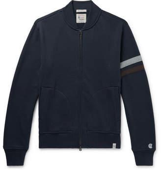 dc5a1e10bf8c Kingsman + Todd Snyder + Champion Striped Cotton-Blend Fleece-Back Jersey  Zip-