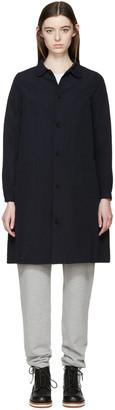 Visvim Navy Linen Impressionist Coat $1,345 thestylecure.com