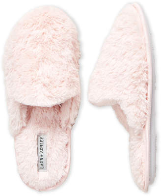 Laura Ashley Plush Clog Slippers