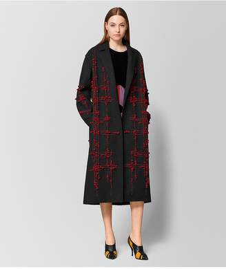 Bottega Veneta Nero/Baccara Rose Wool Coat