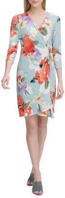 Calvin Klein Floral Wrap Dress