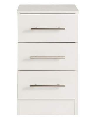 Fashion World Helsinki Three Drawer Bedside Cabinet