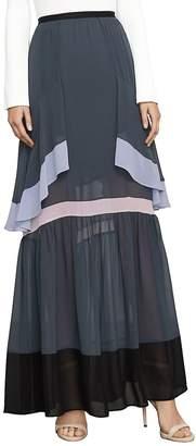 BCBGMAXAZRIA Women's Yuliana Color-Blocked Maxi Skirt