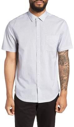 Good Man Brand Slim Fit Diamond Blur Print Short Shirt