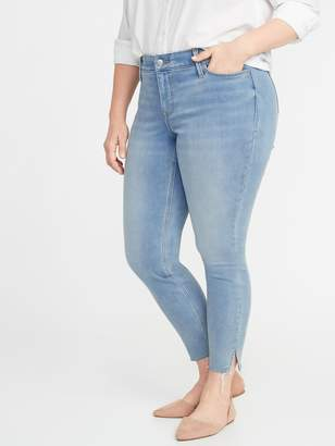 Old Navy High-Waisted Secret-Slim Pockets + Waistband Built-In Warm Rockstar Super Skinny Plus-Size Jeans