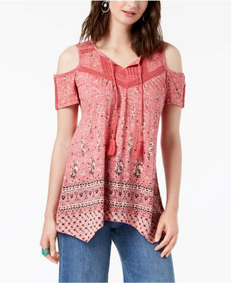Style&Co. Style & Co Tasseled Peasant Top, Created for Macy's