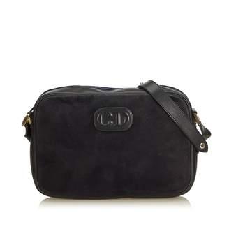 Dior Vintage Black Suede Handbag