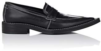 MM6 MAISON MARGIELA Women's Pointed-Toe Leather Loafers