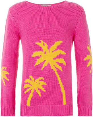 Ermanno Scervino palm tree intarsia sweater