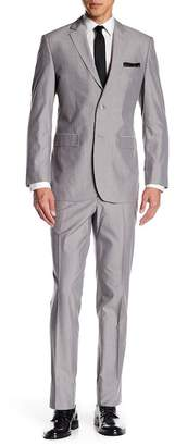 Perry Ellis Two Button Notch Label Trim Fit Suit