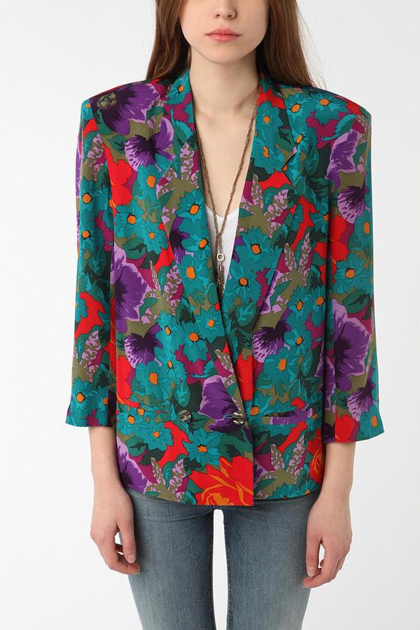 Vintage '80s Rodier Floral Blazer