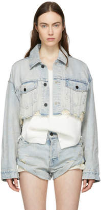 Alexander Wang Blue Blaze Crop Denim Jacket