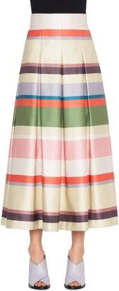 Akris Punto Memphis Glass Stripe Skirt