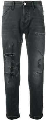 Pt05 distressed regular jeans