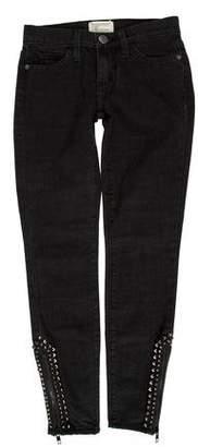 Current/Elliott Stud-Embellished Skinny Jeans w/ Tags