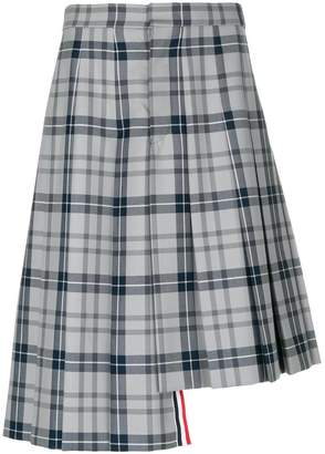 Thom Browne Tartan School Uniform Twill Knee-length Pleated Skirt