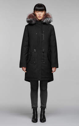Mackage RENA-DX down filled twill parka with fur-lined hood