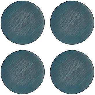 John Lewis & Partners Design Project by No.176 Stained Wood Coaster, Blue, Set of 4