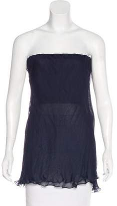 Emporio Armani Silk Strapless Top