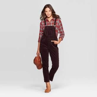 Universal Thread Women's Corduroy Mid-Rise Below Knee Overalls - Universal ThreadTM Brown
