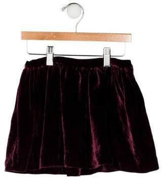 Ralph Lauren Girls' Pleated Velvet Skirt