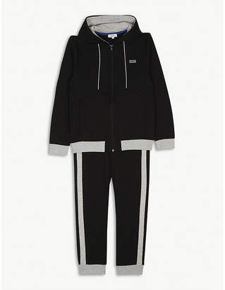 BOSS Cotton-blend jersey tracksuit 4-16 years