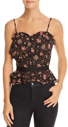 J.o.a. Floral Print Bustier Top