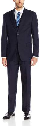Stacy Adams Men's Big Bit & Tall Slim Fit Metro Vested Suit