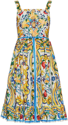 DOLCE & GABBANA Majolica-print cotton dress $2,395 thestylecure.com