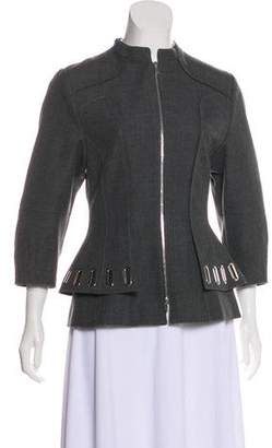 Andrew Gn Virgin Wool Zip-Up Jacket