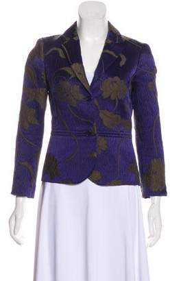 Etro Jacquard Notch-Lapel Blazer