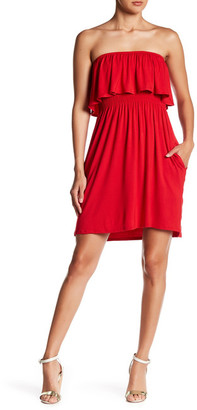 Socialite Strapless Ruffle Dress $48 thestylecure.com