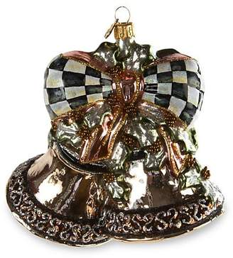 Mackenzie Childs MacKenzie-Childs Precious Metal Bells Glass Ornament Set