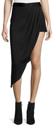 Haute Hippie Tux Slayer Asymmetric Silk Skirt